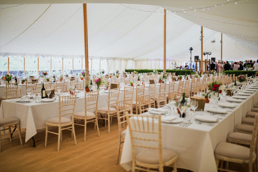 100' x 40' Traditional marquee with client hedge