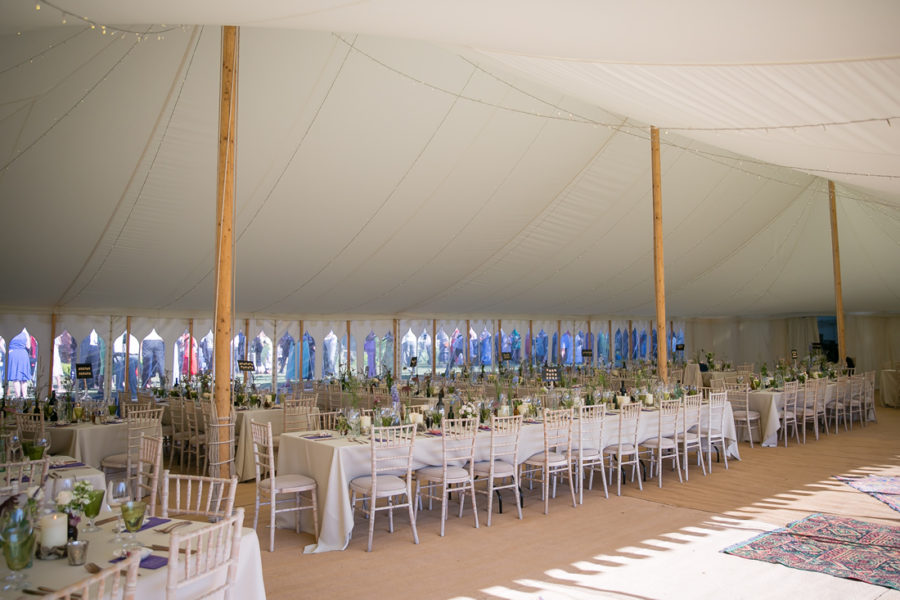 80' x 40' Traditional Canvas Marquee Gothic windows