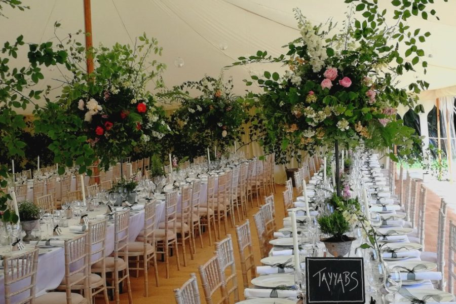 traditional canvas marquee bauble lights