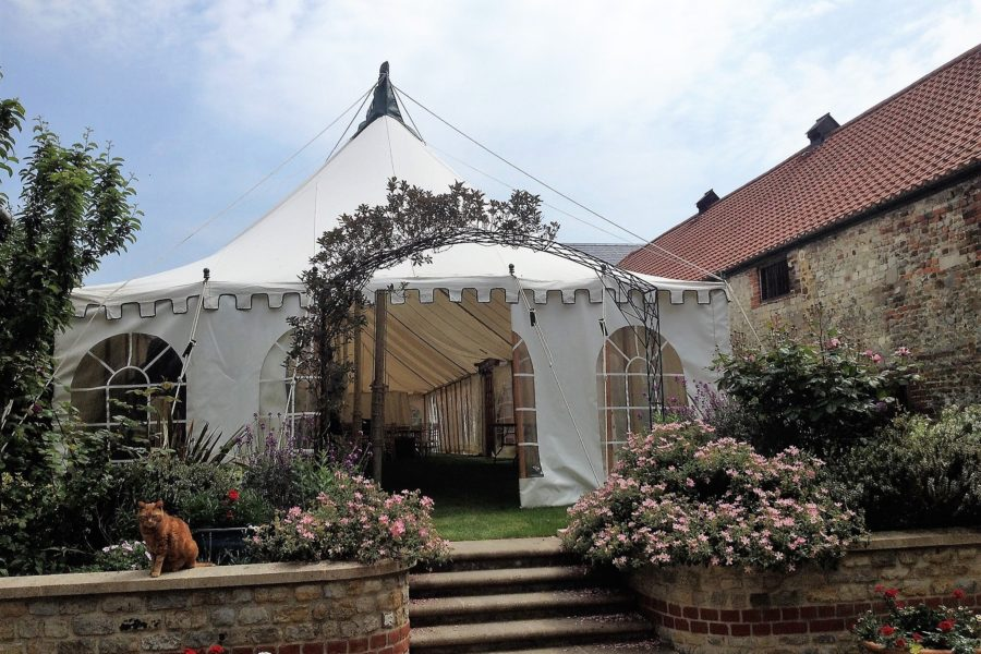 20' wide Traditional Canvas Marquee